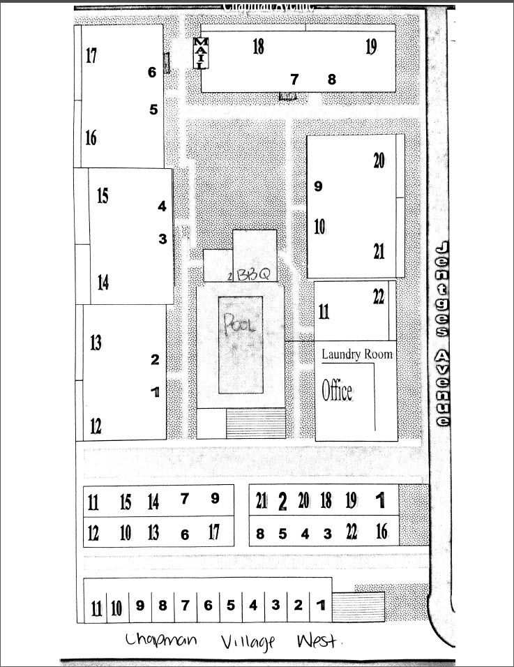 Map of property.